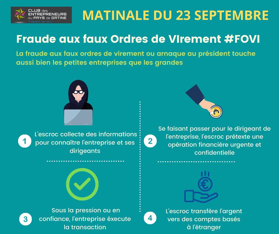 MATINALE - EVITER LES ARNAQUES AU PRESIDENT (FOVI)
